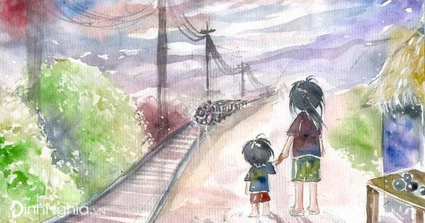 phân tích bài hai đứa trẻ và hình ảnh minh họa