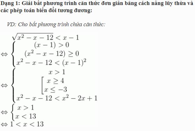 định nghĩa phương trình chứa căn thức