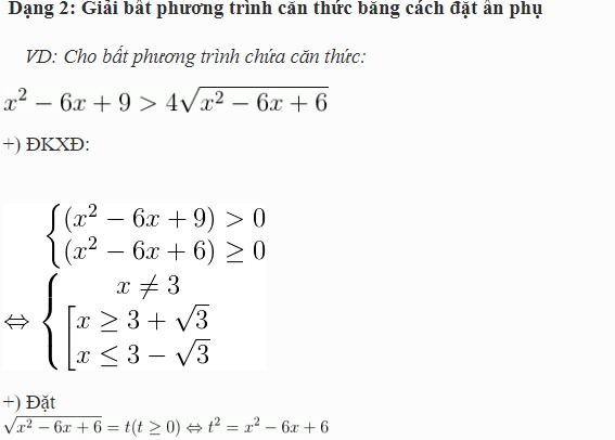 lý thuyết phương trình chứa căn
