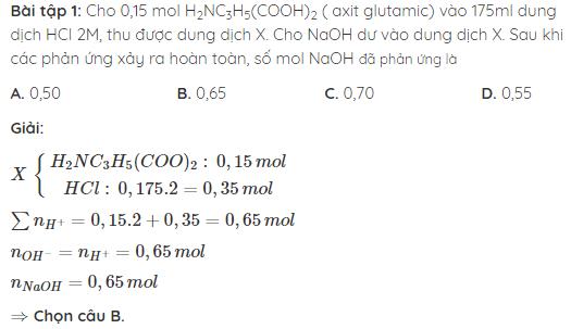 lý thuyết amino axit là gì