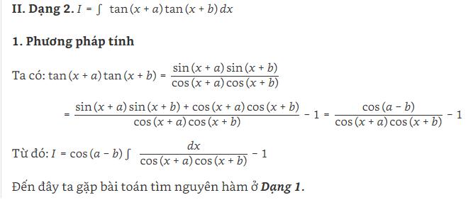 các dạng bài tập nguyên hàm lượng giác và hình ảnh 2