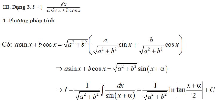 các dạng bài tập nguyên hàm lượng giác và hình ảnh 3