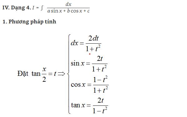 các dạng bài tập nguyên hàm lượng giác và hình ảnh 4