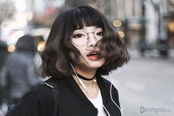 các kiểu tóc ngắn đẹp với tóc mái ngố