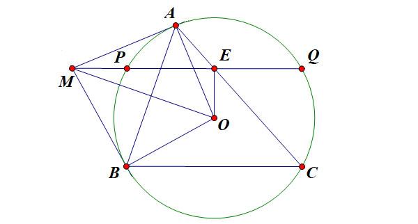 chứng minh trung điểm dựa vào tính chất của đường tròn