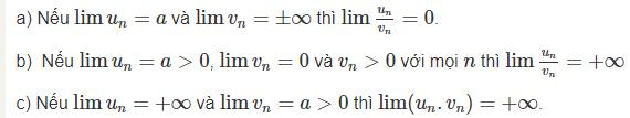 giới hạn của dãy số và mối quan hệ