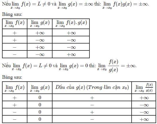 giới hạn của hàm số tại vô cực
