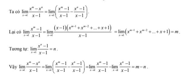lý thuyết giới hạn của hàm số