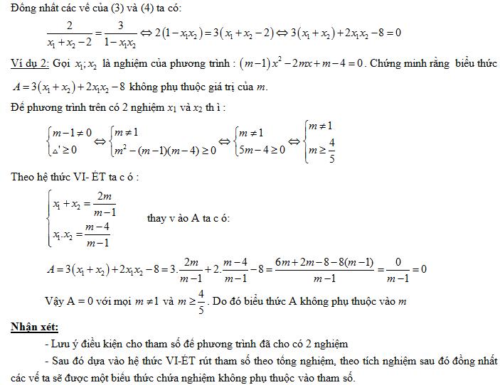 luyện tập về định lý viet