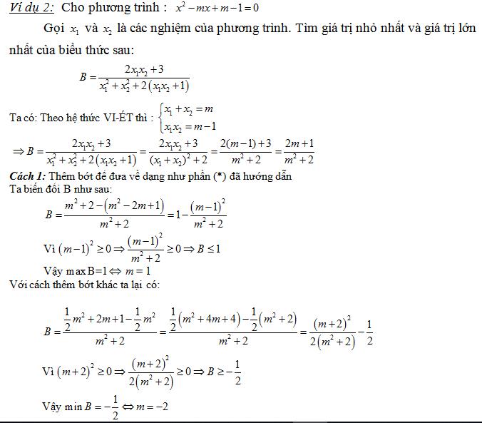 tìm hiểu bài tập của định lý viet