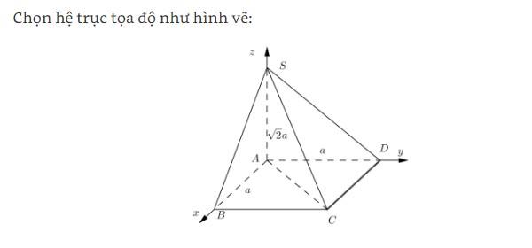 phương pháp tọa độ trong không gian và luyện tập