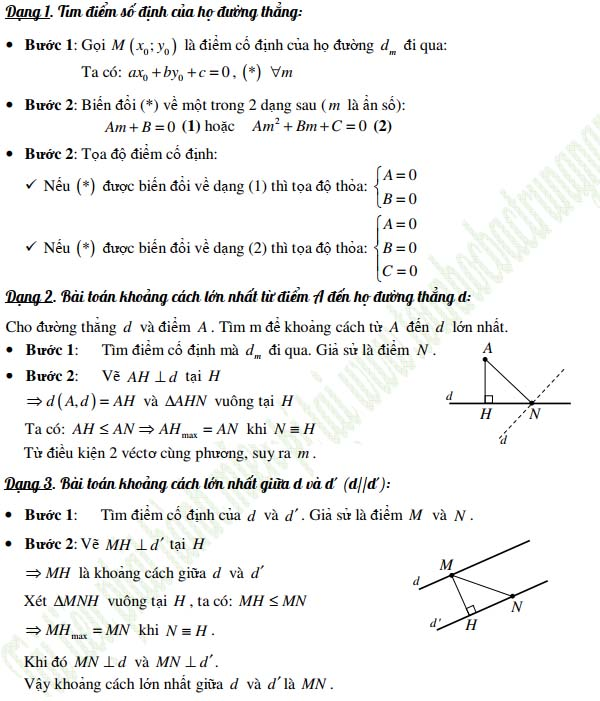 phương pháp tọa độ trong mặt phẳng và phương trình tham số