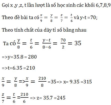 ví dụ về tính chất của dãy tỉ số bằng nhau