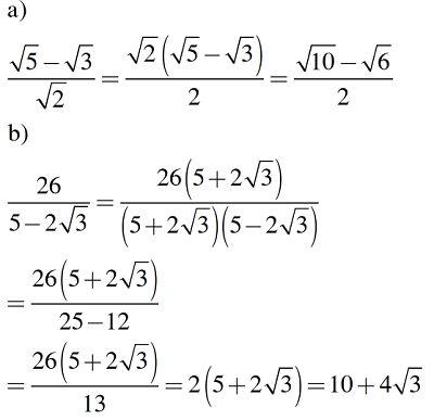 các bài toán trục căn thức ở mẫu khó