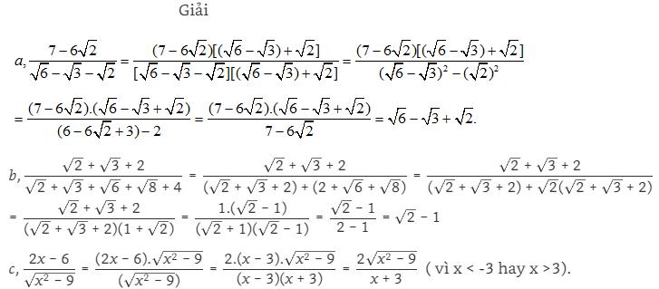 các dạng về trục căn thức ở mẫu