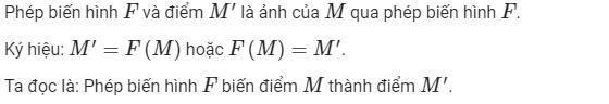 ví dụ các phép biến hình lớp 11