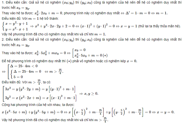 hệ phương trình đối xứng và lý thuyết