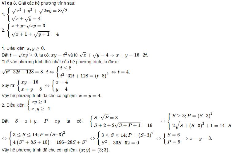 ý nghĩa của hệ phương trình đối xứng loại 1