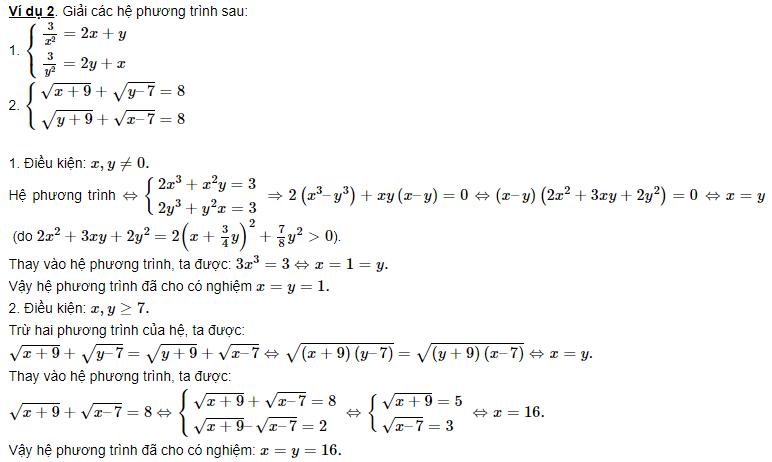 luyện tập hệ phương trình đối xứng loại 2