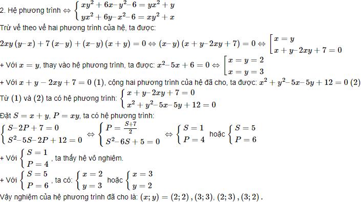 kiến thức về hệ phương trình đối xứng