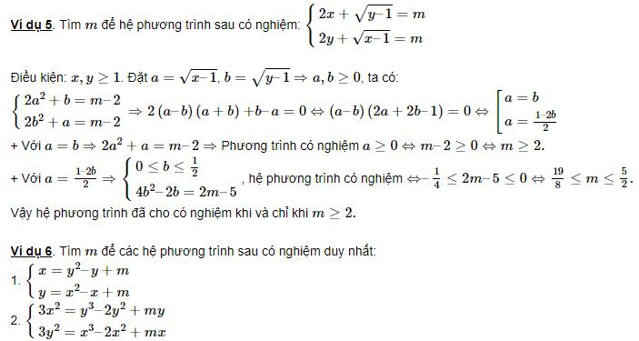 cách giải hệ phương trình đối xứng loại 2