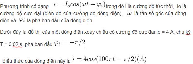 công thức và nguyên tắc tạo ra dòng điện xoay chiều