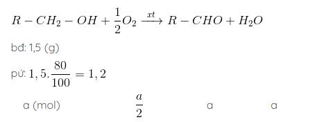bài tập oxi hóa ancol