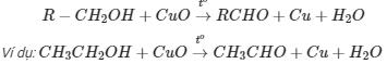 phản ứng oxi hóa ancol bậc 1