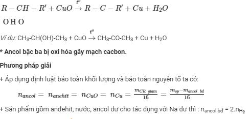 tìm hiểu oxi hóa ancol bậc 2