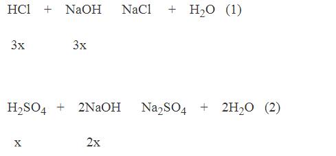 phương trình hóa học của phản ứng trung hòa