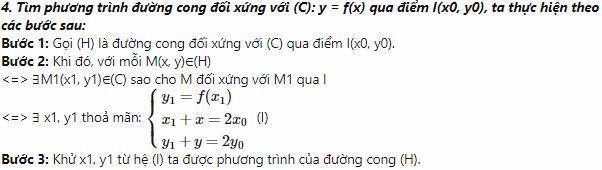 các dạng toán về tâm đối xứng của đồ thị hàm số hình ảnh 2