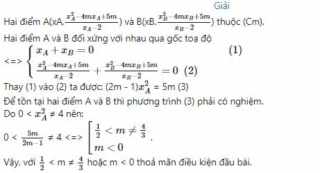 các dạng toán về tâm đối xứng của đồ thị hàm số hình ảnh 5