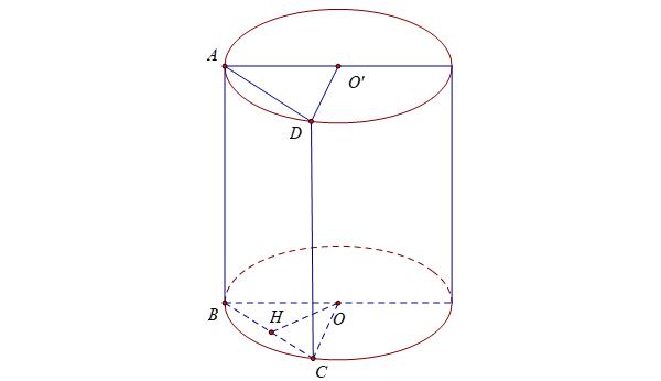 một số bài tập về thiết diện hình trụ