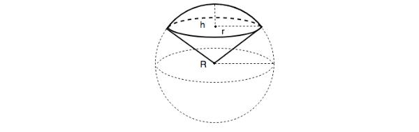 cách tính thể tích hình quạt cầu