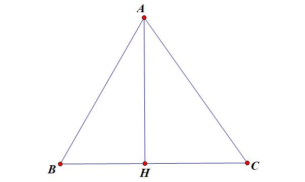 tính chất đường cao trong tam giác cân