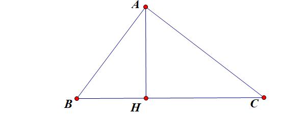 công thức tính đường cao trong tam giác vuông