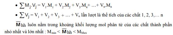 phương pháp trung bình trong hóa học và một số ví dụ