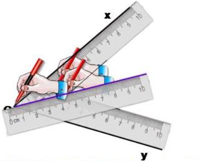 cách vẽ tia phân giác bằng thước hai lề