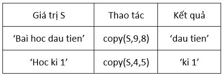 dữ liệu của hàm copy